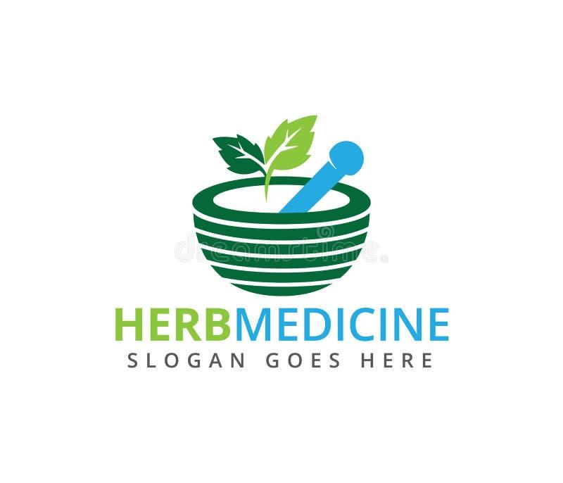 herbal pharmacy medical treatment medicine clinic logo design royalty free illustration