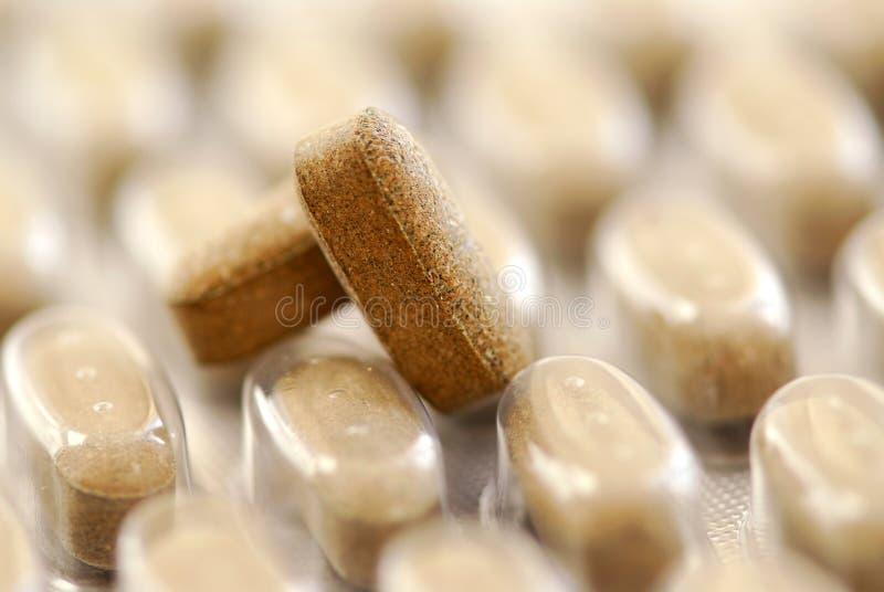 Herbal pills stock photo