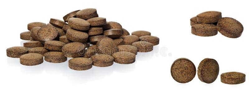 Herbal pills from Ashwagandha Withania somnifera, Indian ginse stock image