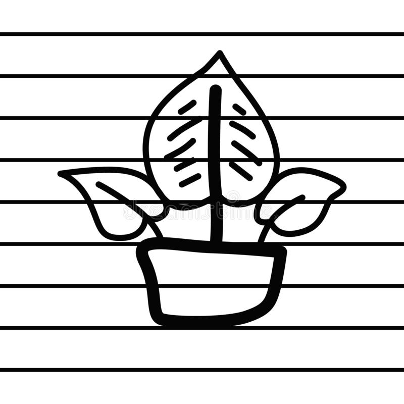 Herbal plant logo in cartoon images on paper. can be applied to various media either paper or plastic. This herbal plant logo can. Also be used for various stock illustration