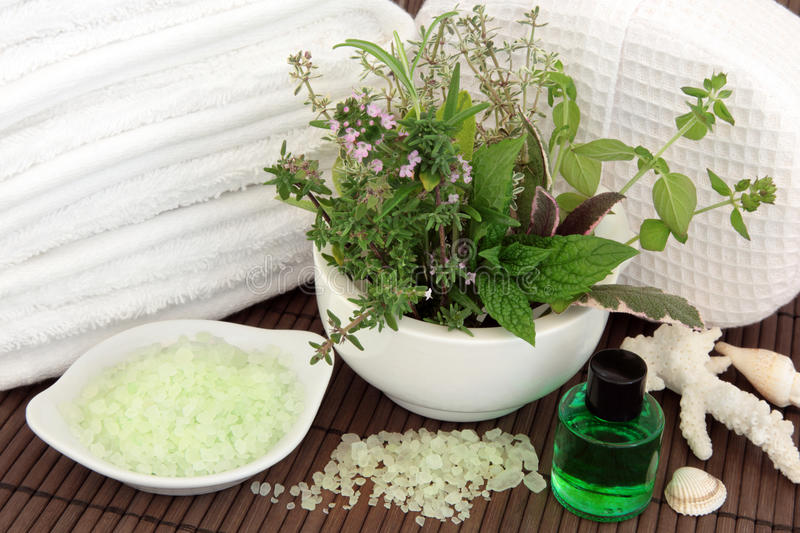 Herbal Spa Treatment stock images