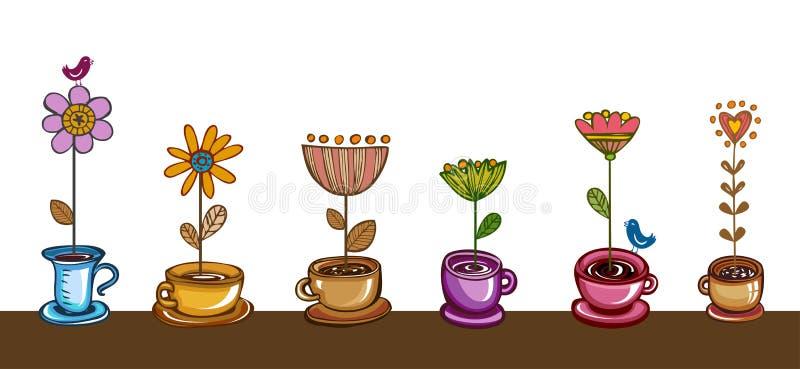 Herbal tea royalty free illustration