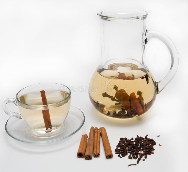 Herbal tea. On white background royalty free stock photos
