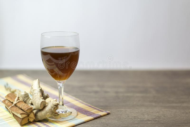 Herbal tea drink is concentrated formula, Copy-space stock photos