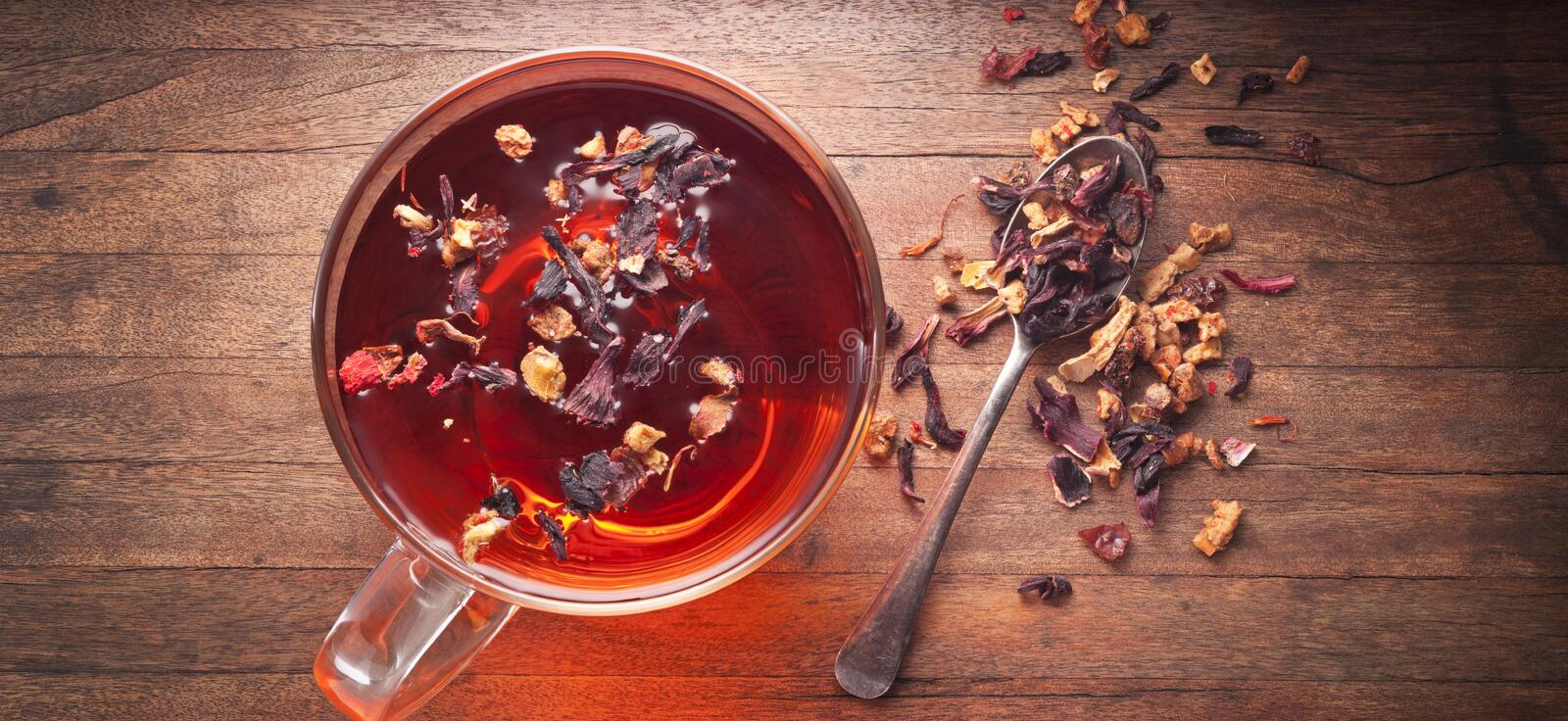 Herbal Tea Cup Background stock photo