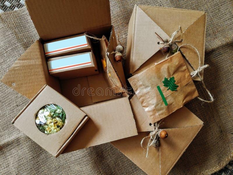 Herbal vintage packaging royalty free stock image