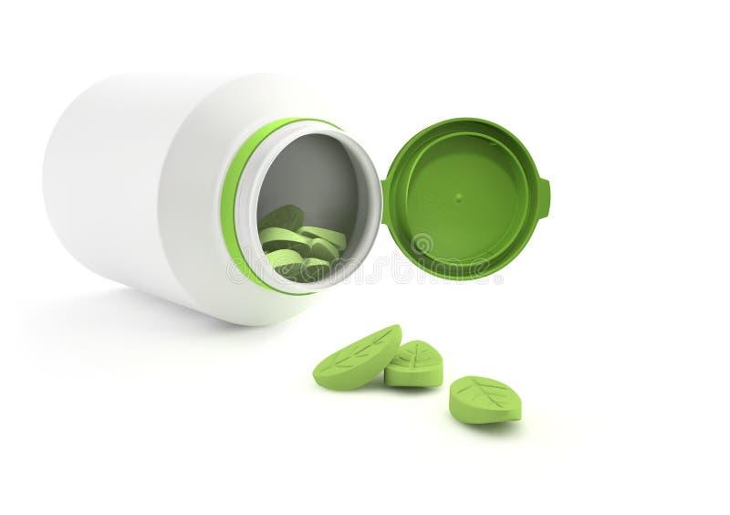 Herbal vitamins. vector illustration