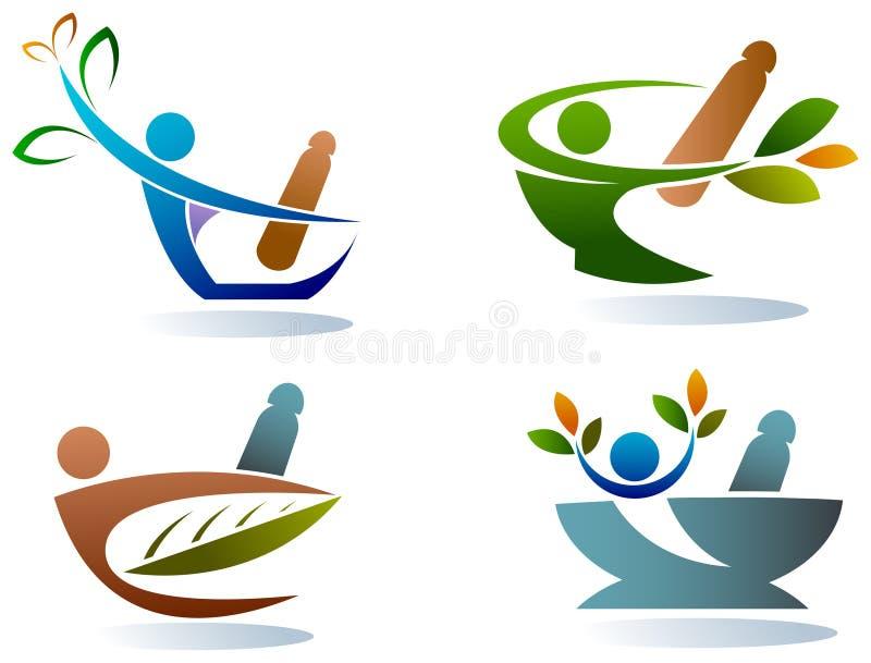 herbalist vektor illustrationer