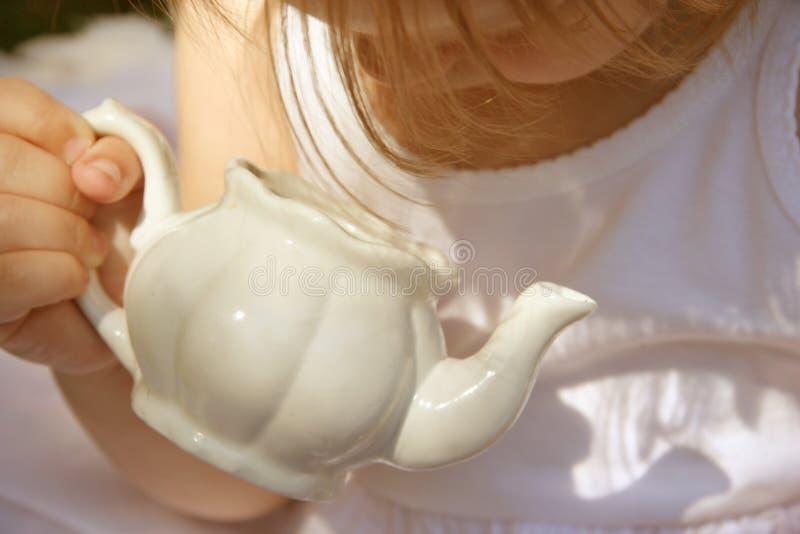 herbata czas pusta obraz stock