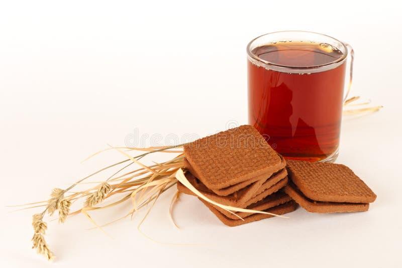 Herbata i ciastka zdjęcie stock