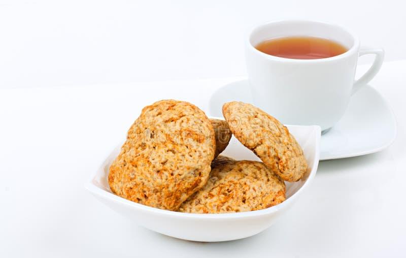 Herbata i ciastko zdjęcia stock