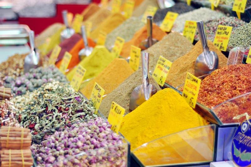 Herbata i pikantność na egipcjanina rynku fotografia royalty free