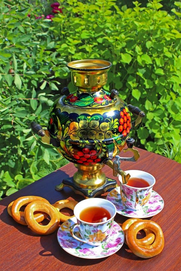 Herbata i samowar obrazy royalty free