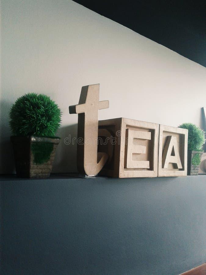 herbata? tak zadawala! zdjęcie stock