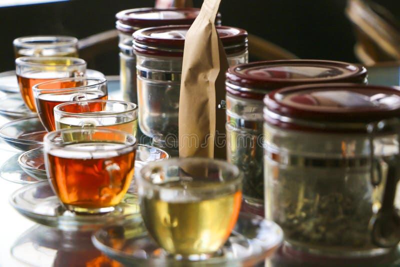 Herbata w teacups zdjęcia stock