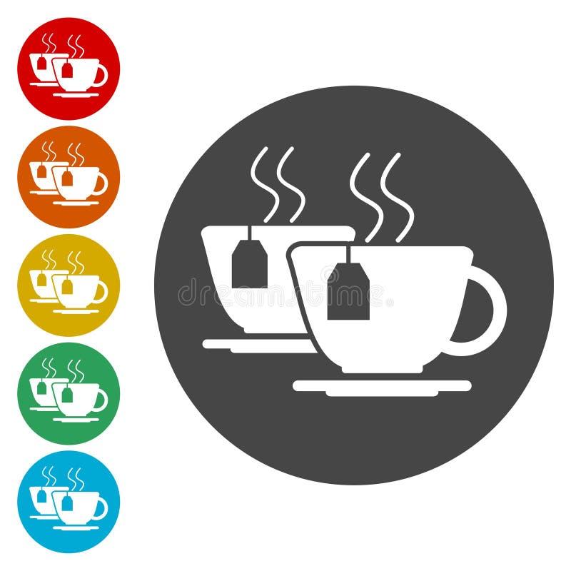 Herbata - wektorowe ikony ustawiać ilustracja wektor
