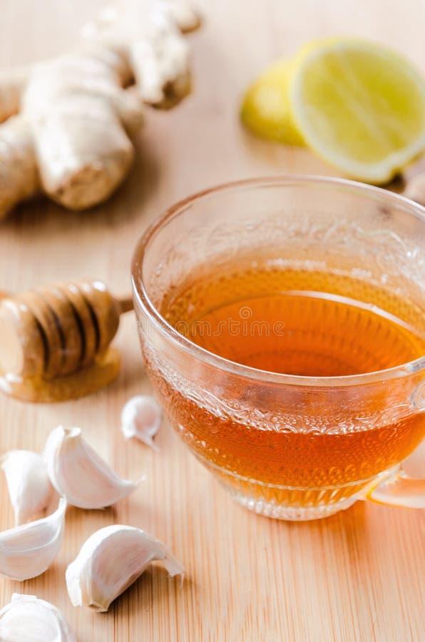 Herbata z imbirem, cytryną i miodem, zdjęcia royalty free
