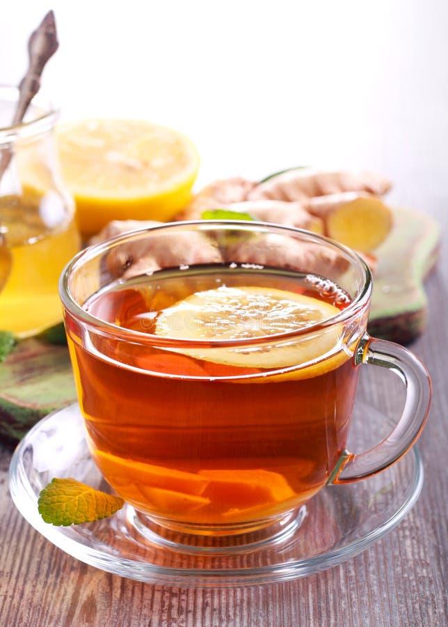 Herbata z imbiru korzeniem obraz royalty free