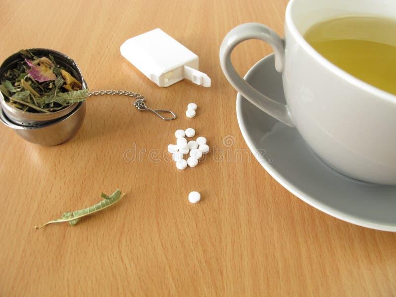 Herbata z słodzik pastylkami zdjęcia stock