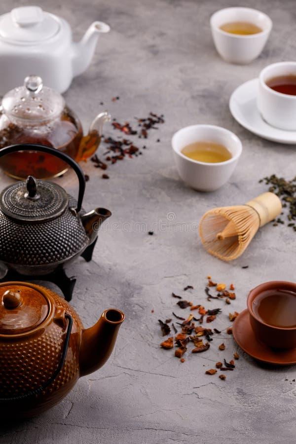 Herbaty karta E życia wciąż herbata obraz stock