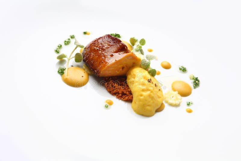 Herbe de foie de Plats gastronomiques images libres de droits