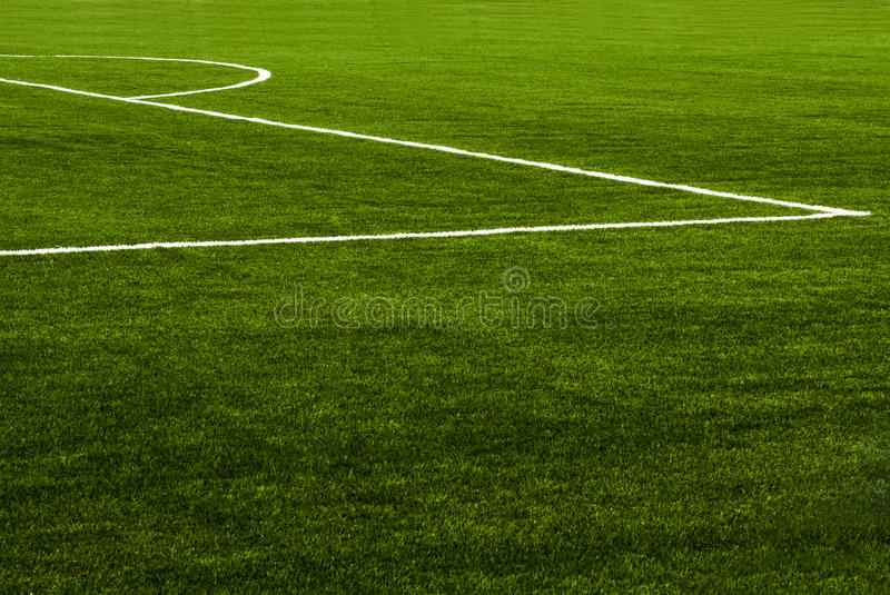 Herbe de terrain de football images libres de droits