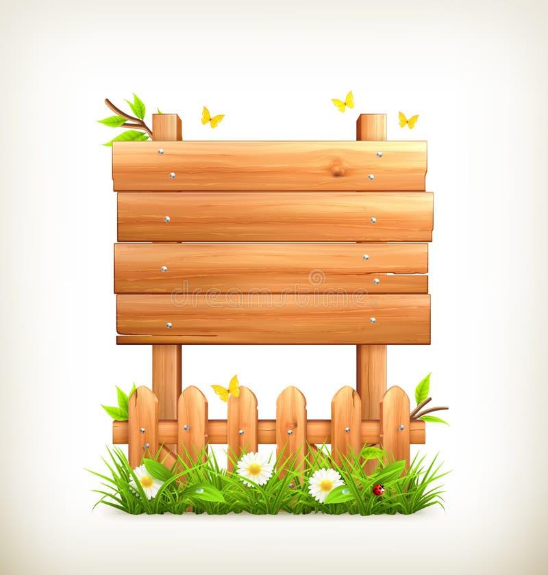 Herbe en bois de connexion illustration stock