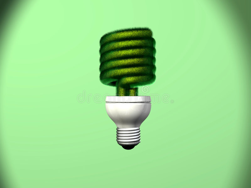 herbe fluorescente compacte d'ampoule image stock