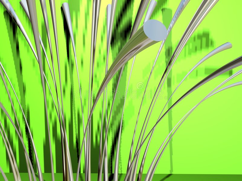 Herbe métallique 2 illustration libre de droits