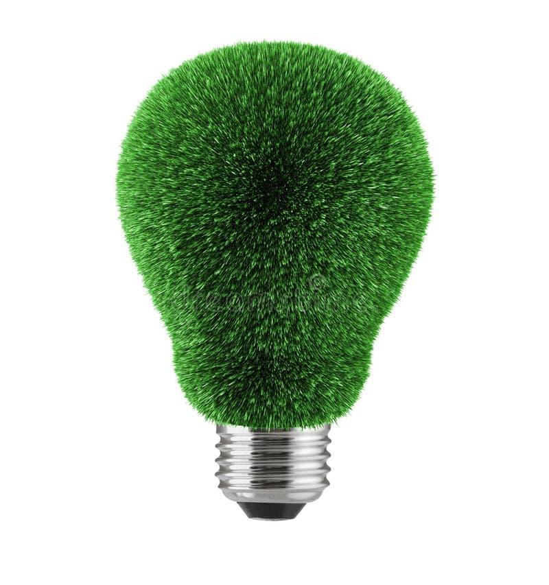 Herbe verte au-dessus de lampe images stock