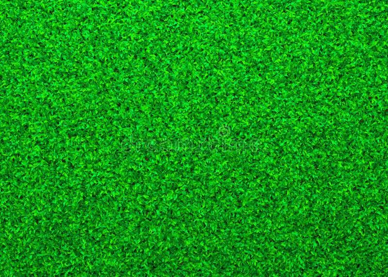 Herbe verte, texture de fond naturel, vue courbe, illustration 3D images stock