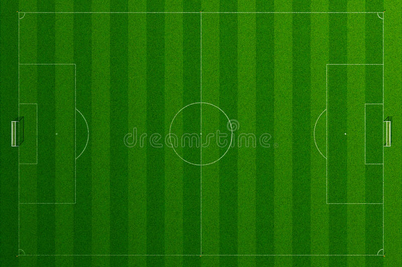 Herbe vide de terrain de football illustration de vecteur