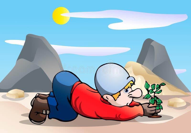 Herbebossing vector illustratie