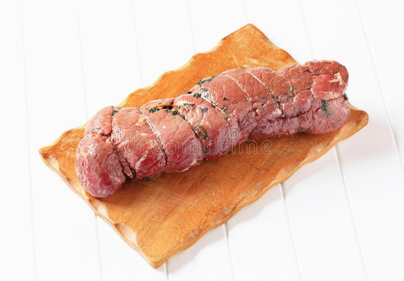 Herbed beef tenderloin royalty free stock photos