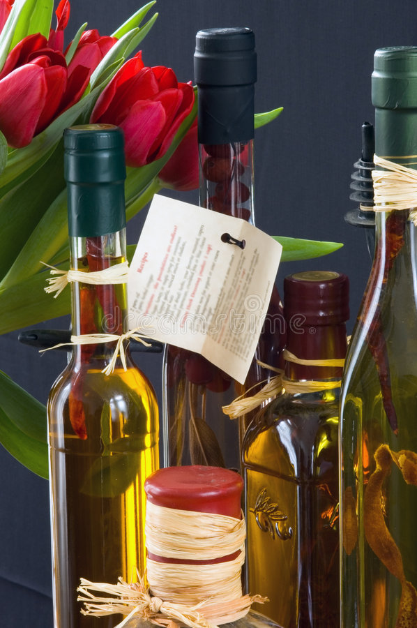 Download Herbed Vinegars & Flowers Stock Image - Image: 89271