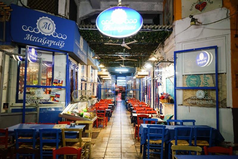 Herberg van Thessaloniki stock afbeeldingen