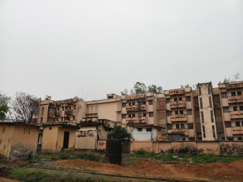 Herbergesgebäudeansicht stockbild