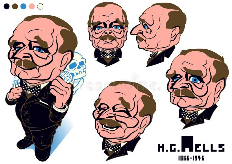 Herbert George studnie obrazy stock