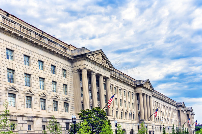 Herbert Hoover Building Commerce Department Washington DC stock photography