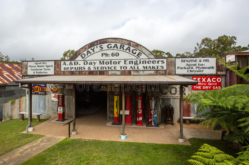 Herberton Historic Village Scene. Herberton, Australia - Jul 3: A scene from the Herberton Historic Village recreating the atmosphere of a mining town in stock images