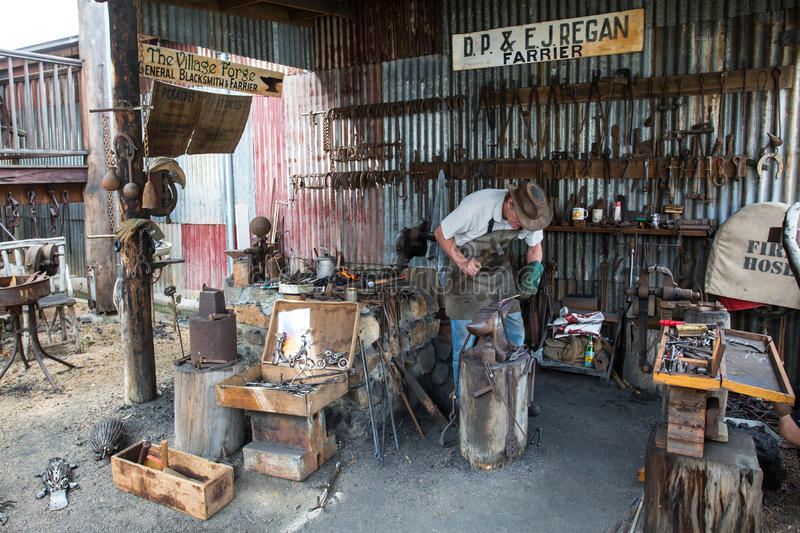 Herberton Historic Village Scene. Herberton, Australia - Jul 3: A scene from the Herberton Historic Village recreating the atmosphere of a mining town in royalty free stock images