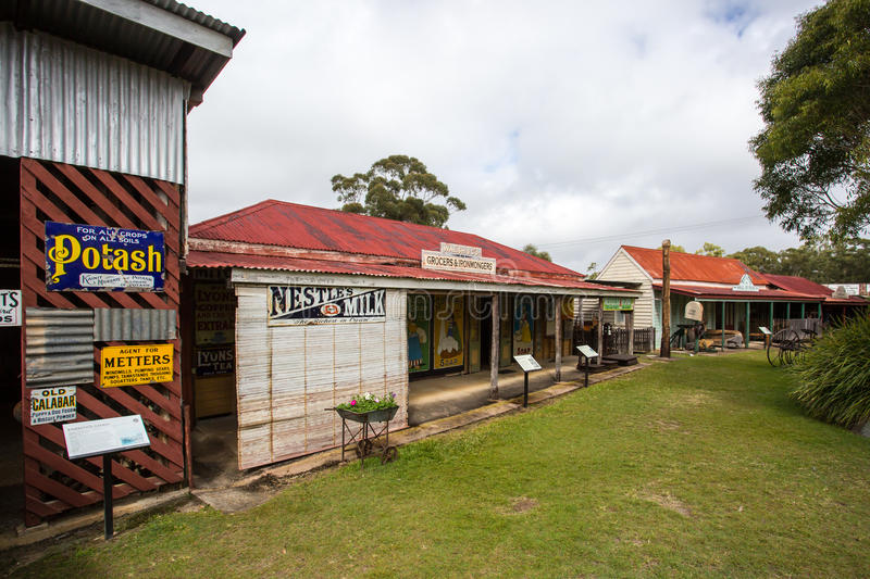 Herberton Historic Village Scene. Herberton, Australia - Jul 3: A scene from the Herberton Historic Village recreating the atmosphere of a mining town in royalty free stock photo