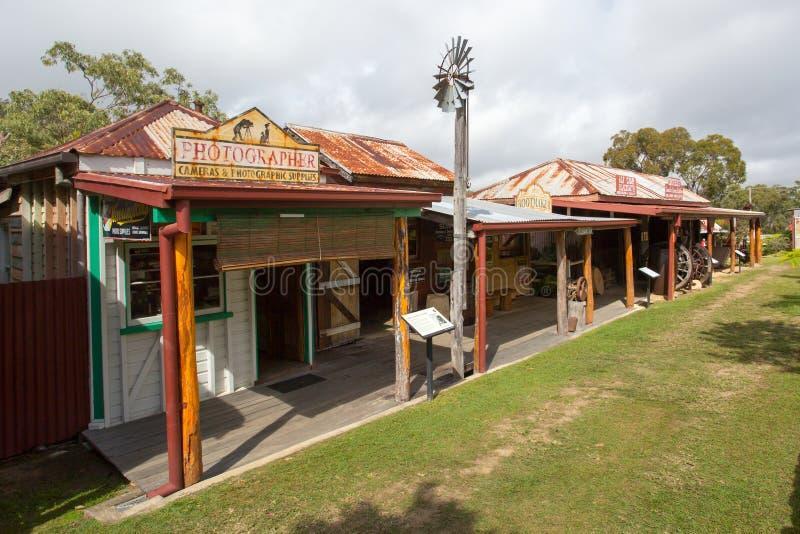 Herberton Historic Village Scene. Herberton, Australia - Jul 3: A scene from the Herberton Historic Village recreating the atmosphere of a mining town in stock image