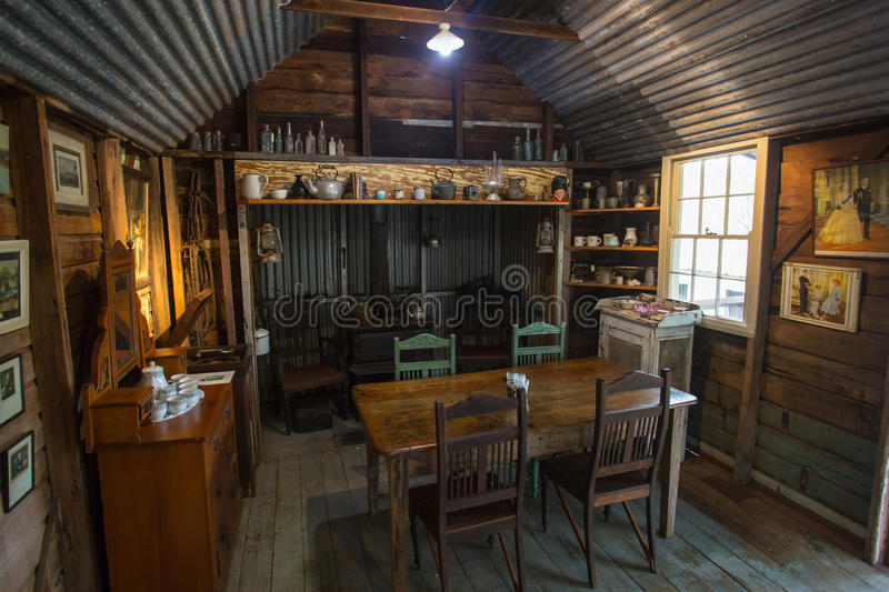 Herberton Historic Village Scene. Herberton, Australia - Jul 3: A scene from the Herberton Historic Village recreating the atmosphere of a mining town in royalty free stock image