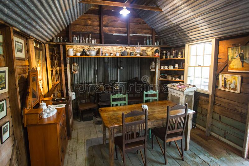 Herberton Historic Village Scene. Herberton, Australia - Jul 3: A scene from the Herberton Historic Village recreating the atmosphere of a mining town in stock photography