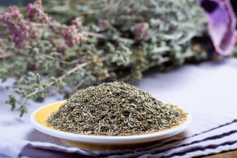 Herbes de普罗旺斯,干草本混合物认为特点  库存图片
