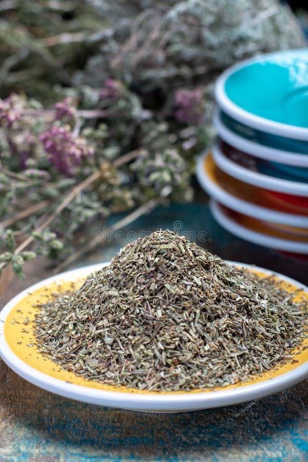 Herbes DE de Provence, mengsel van droge kruiden beschouwd van als typisch stock afbeeldingen