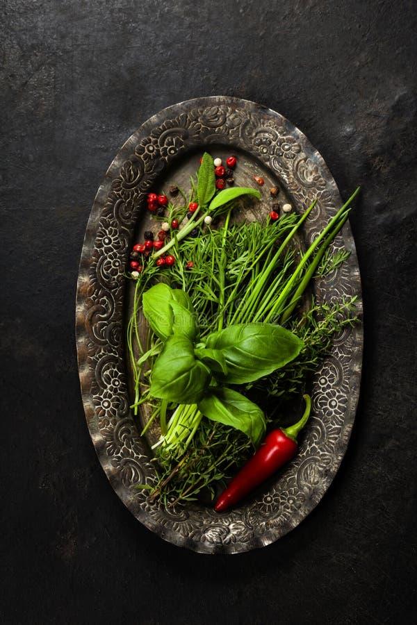 Herbes et épices images libres de droits