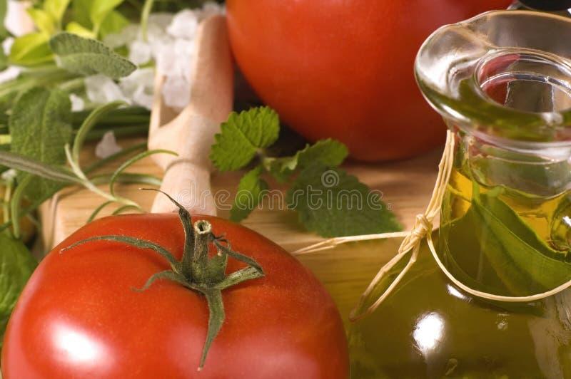Herbes et légumes frais photographie stock
