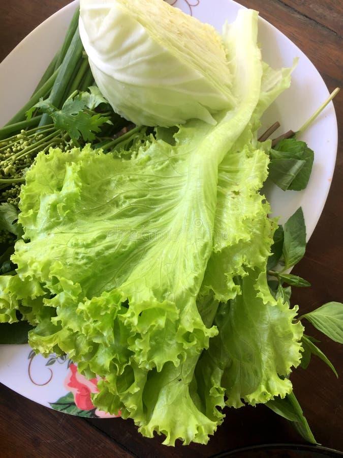 Herbes et légumes thaïlandais comme garnitures photographie stock libre de droits